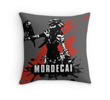 Mordecai (Colored BG) Throw Pillow