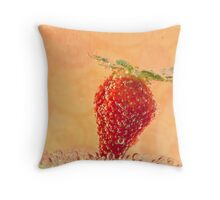 More Bubbly Fruit Throw Pillow