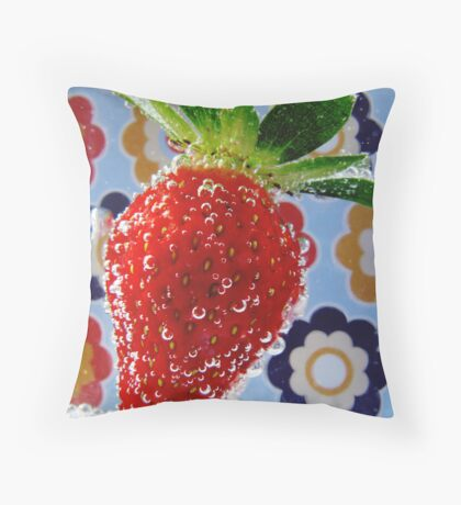 Bubbly Fruit Throw Pillow