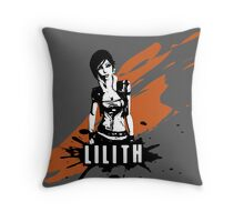 Lilith (Colored BG) Throw Pillow