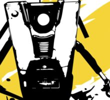Claptrap (Colored BG) Sticker