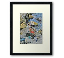 More bait Granpa. Framed Print