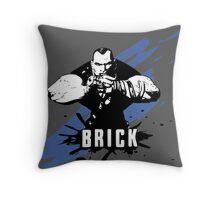 Brick (Colored BG) Throw Pillow