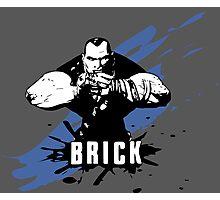 Brick (Colored BG) Photographic Print