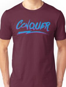 Conquer: 80's Hand-Rendered Type Unisex T-Shirt