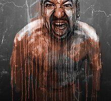 Angry Self Portrait by Andrea Gatti