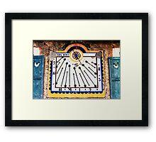 Sun Dial Framed Print