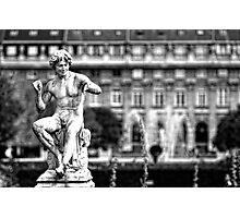 Statue in Jardin du Palais Royal in Black and White Photographic Print