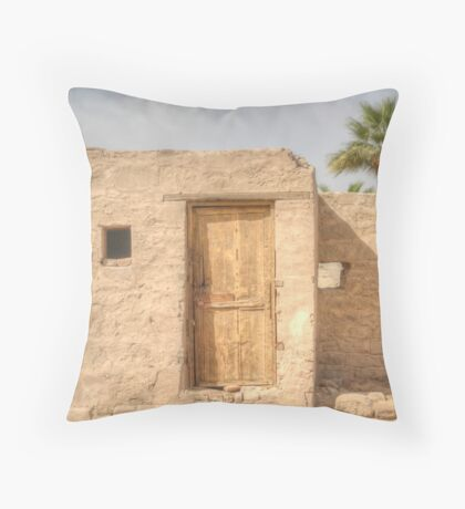 The Locked Door Throw Pillow