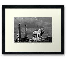 Place du la Concorde in Black and White Framed Print