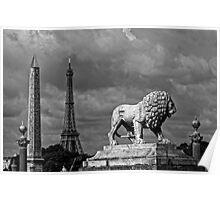 Place du la Concorde in Black and White Poster