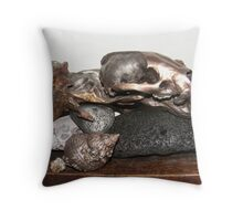 Foundations. (Root, Stone and Bone) Throw Pillow
