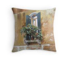 Venetian Balcony Throw Pillow