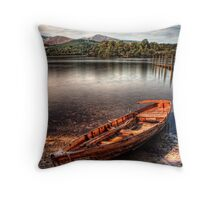 Little Boat on the Shore Throw Pillow