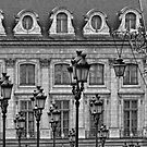 Place Vendome in Paris in Black and White by randyharris