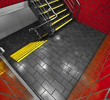 Red and Yellow Stairwell by wolfcat