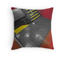 Red and Yellow Stairwell Throw Pillow