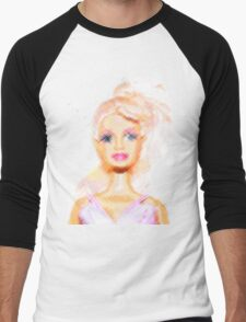 Barbie Men's Baseball ¾ T-Shirt