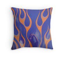 Street Rod Art: Flaming Refections Throw Pillow