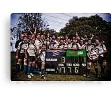 Geelong Rams RUFC ~ Grand Final Winners Canvas Print
