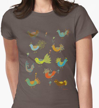 Posh birds Womens Fitted T-Shirt