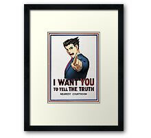 phoenix wright wants you Framed Print