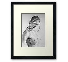 nude in pencil Framed Print