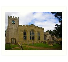 St Peter's Church-Brafferton Helperby,North Yorks Art Print