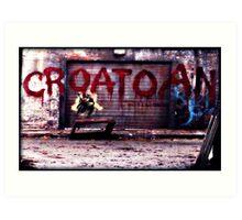 Croatoan - new Supernatural design! Art Print