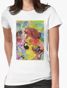 Forest wildlife Womens Fitted T-Shirt