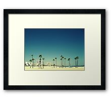 Summer Beach Blue Framed Print