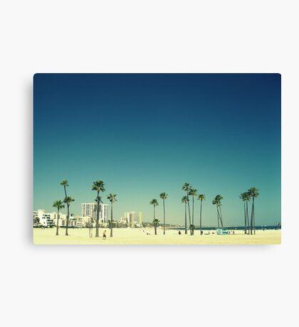 Summer Beach Blue Canvas Print