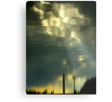 Some Clouds In My Water Metal Print