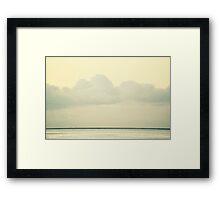 White Wall Framed Print