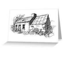 The old cottage, Kerry, Eire Greeting Card