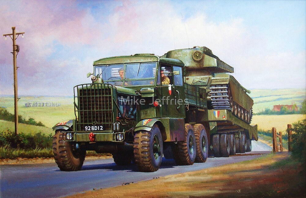 REME Scammell Explorer tank transporter by Mike Jeffries