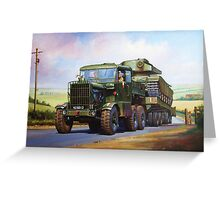 REME Scammell Explorer tank transporter Greeting Card