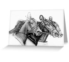 At the Track Greeting Card