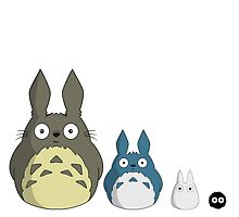 My cute version of Totoro and friends by Carcast