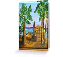 Oko's Beach Shack Greeting Card
