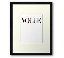 So Vogue Framed Print