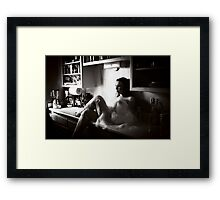 No matter how much pressure you feel at work, if you could find ways to relax for at least five minutes every hour, you'd be more productive. Framed Print