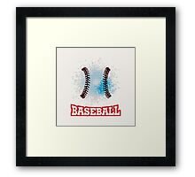 Vector grunge baseball  Framed Print