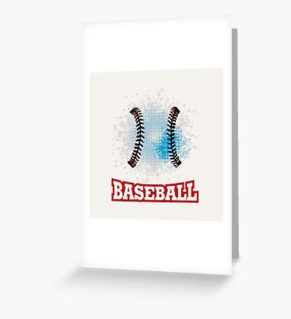 Vector grunge baseball  Greeting Card