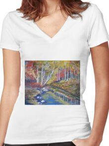 Nature's paint brush Women's Fitted V-Neck T-Shirt