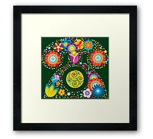 Abstract floral phone Framed Print