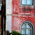 Red Building in Sintra, Portugal by Peggy Berger