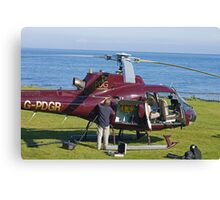 Helicopter field maintenance Canvas Print