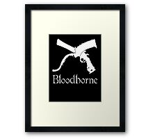 Bloodborne Saw Cleaver logo and Repeating Pistol  videogame t shirt Framed Print