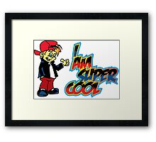 Super Cool T-Shirt Framed Print